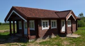 норвежский дом из лафета