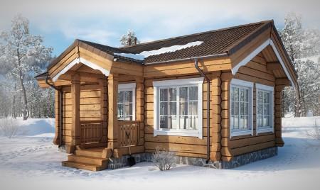 деревянный дом модель