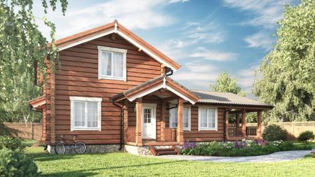 деревянный дом строительство