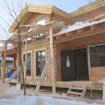 дом во Власово в процессе строительства